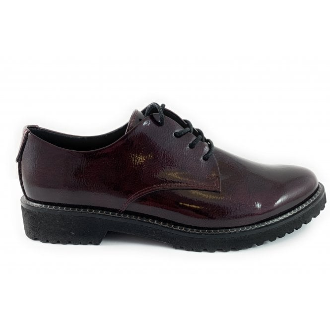 Marco Tozzi 23712-33 Burgundy Patent Lace-Up Shoe