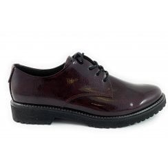 23712-33 Burgundy Patent Lace-Up Shoe