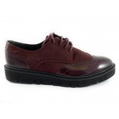23730-23 Burgundy Leather Lace-Up Brogue