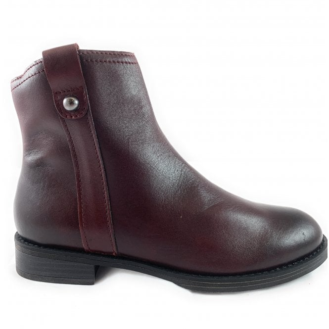 Marco Tozzi 25003-23 Bordeaux Leather Ankle Boot