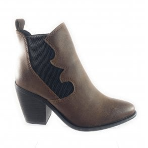 25020-23 Tan Ankle Boot