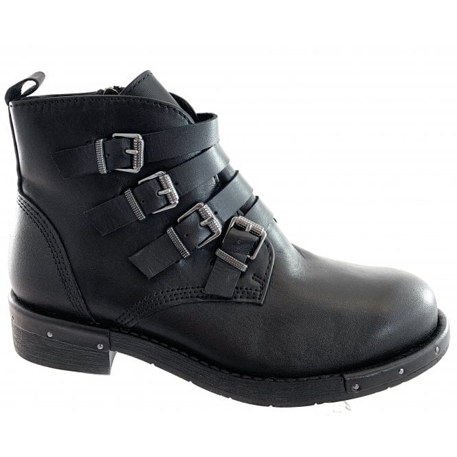 Marco Tozzi 25021-23 Black Leather Ankle Boot