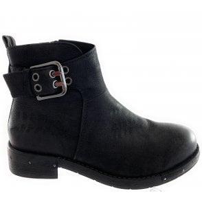25022-23 Black Nubuck Ankle Boot