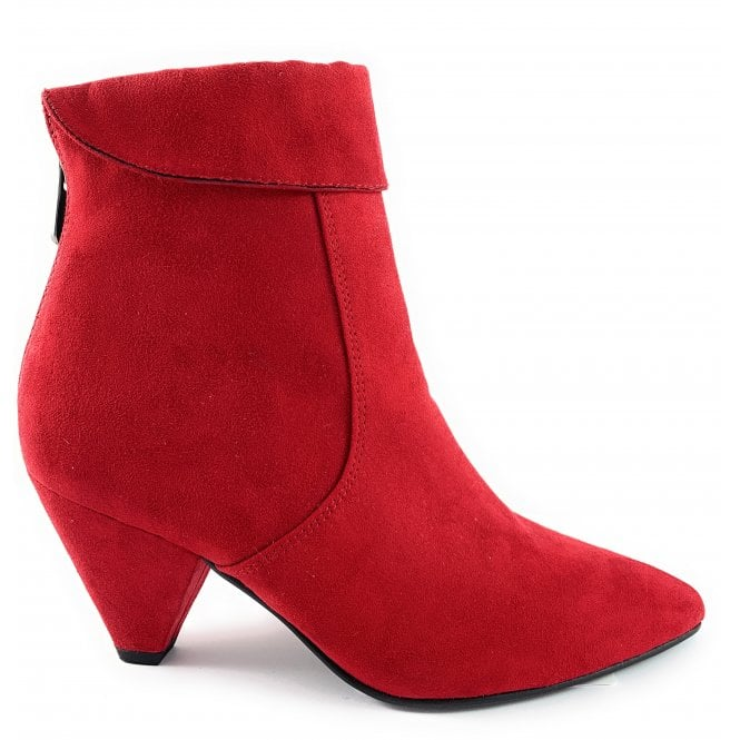 Marco Tozzi 25029-23 Red Faux Suede Ankle Boot