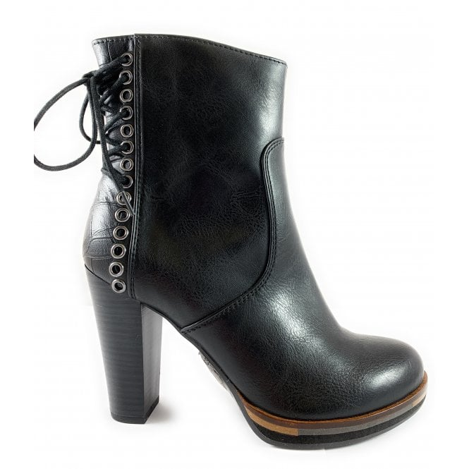 Marco Tozzi 25047-23 Black Heeled Ankle Boot