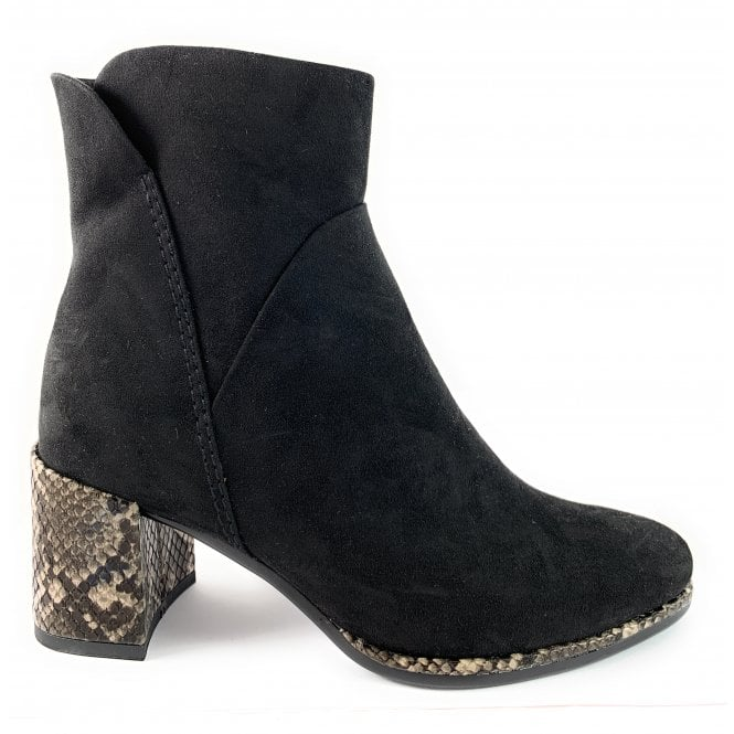Marco Tozzi 25048-33 Black Faux Suede Ankle Boot