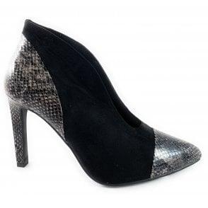 25063-33 Black Faux Suede Trouser Shoe