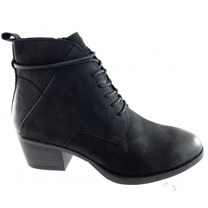 25102-23 Black Leather Ankle Boot