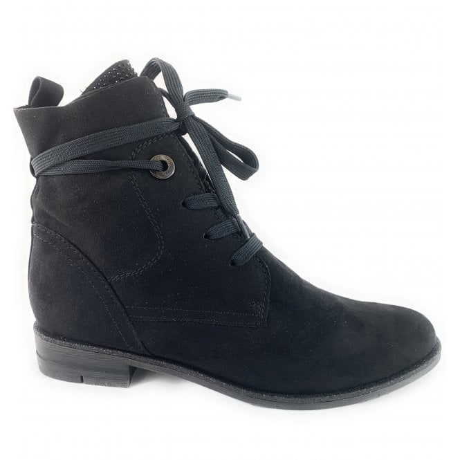 Marco Tozzi 25105-23 Black Lace-Up Ankle Boot