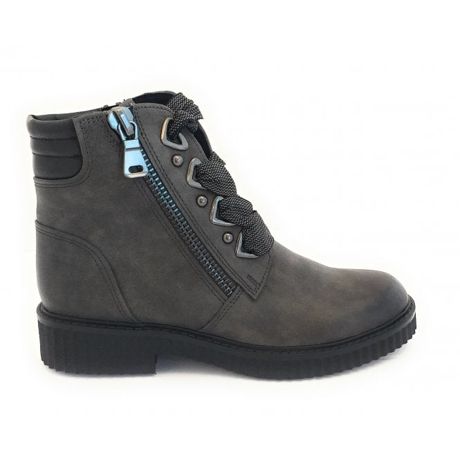 Marco Tozzi 25114-23 Dark Grey Lace-Up Ankle Boot