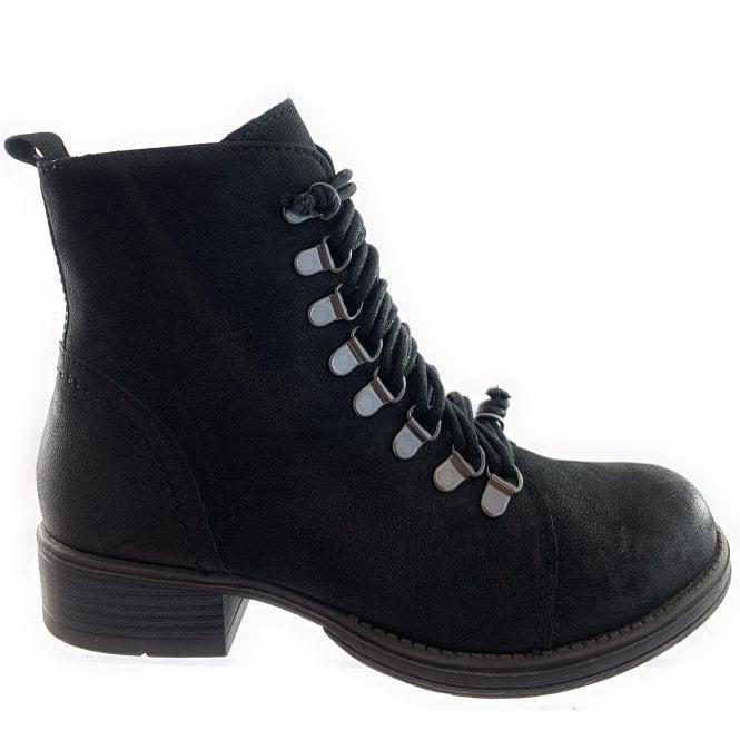 Marco Tozzi 25209-33 Black Nubuck Leather Ankle Boot