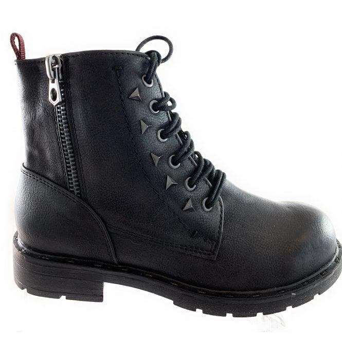 Marco Tozzi 25217-23 Black Faux Leather Biker Boot