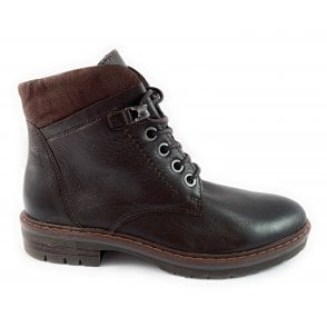 25233-33 Marco Tozzi Brown Leather Ankle Boot
