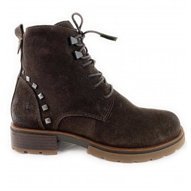 Marco Tozzi 25256-23 Brown Suede Lace-Up Ankle Boot