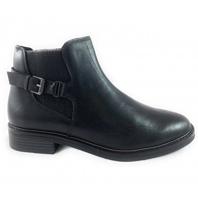 Marco Tozzi 25300-33 Black Leather Chelsea Boot