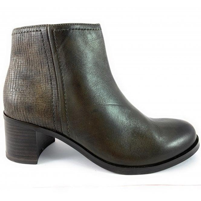 Marco Tozzi 25301-23 Khaki Leather Ankle Boot