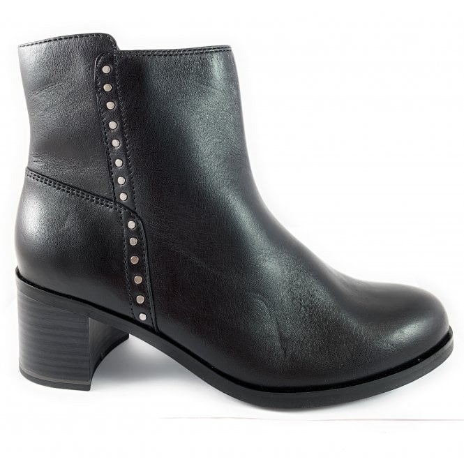 Marco Tozzi 25318-23 Black Leather Ankle Boot
