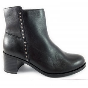 25318-23 Black Leather Ankle Boot