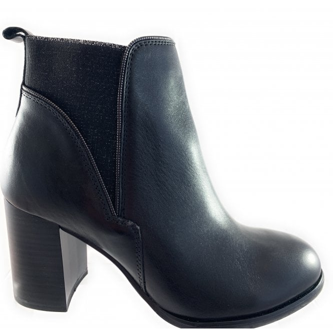 Marco Tozzi 25324-23  Black Leather Ankle Boot