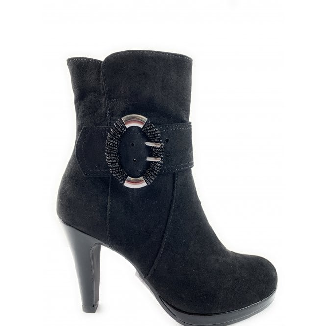 Marco Tozzi 25333-23 Black Heeled Ankle Boots