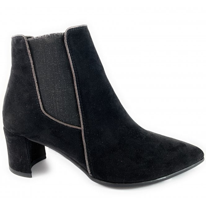 Marco Tozzi 25343-23 Black Heeled Chelsea Boot