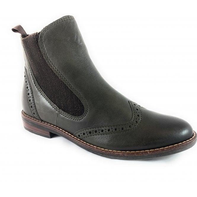 Marco Tozzi 25365-33 Khaki Leather Ankle Boot