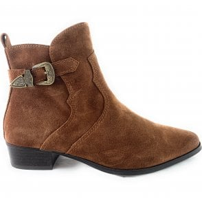 25386-23 Tan Suede Ankle Boot