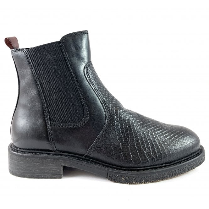 Marco Tozzi 25394-23  Black Leather Chelsea Boot