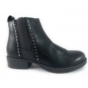 25400-33 Black Leather Ankle Boot
