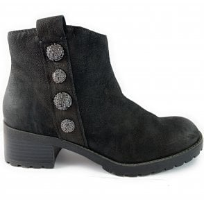 25401-33 Black Leather Ankle Boot