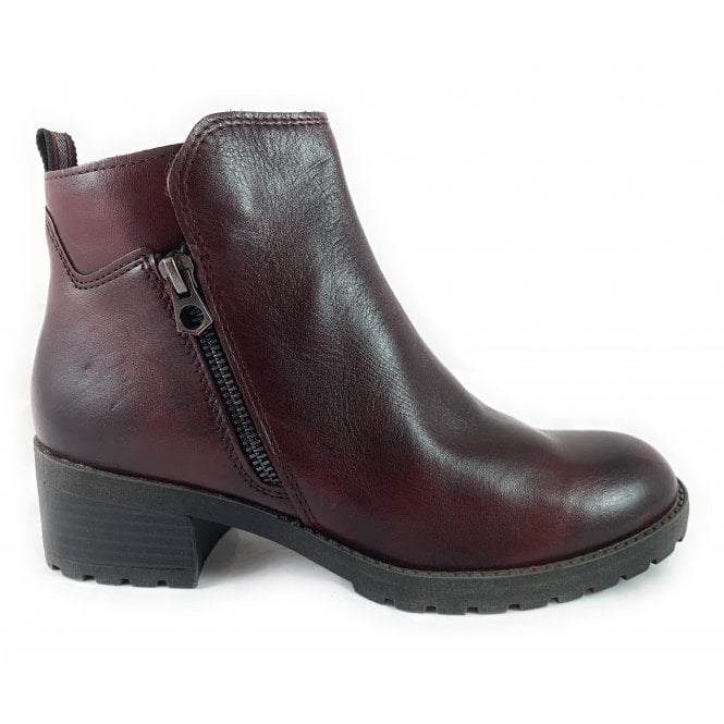 Marco Tozzi 25404-33 Bordeaux Leather Ankle Boot