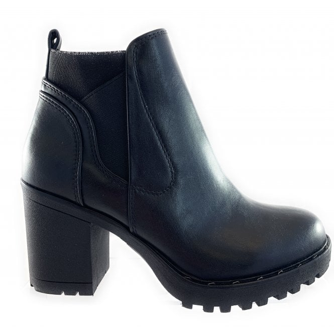 Marco Tozzi 25405-23 Black Faux Leather Ankle Boot