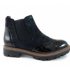 25412-33 Black Chelsea Boot