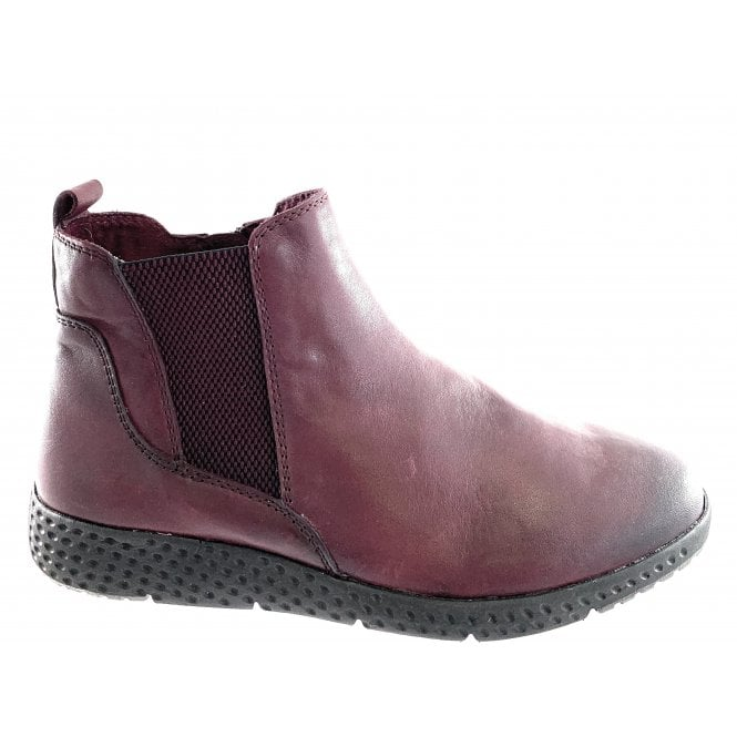 Marco Tozzi 25415-23 Burgundy Leather Lightweight Ankle Boot