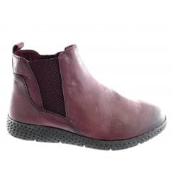 25415-23 Burgundy Leather Lightweight Ankle Boot