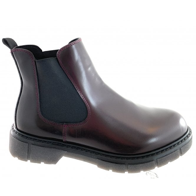 Marco Tozzi 25416-23 Burgundy Faux Leather Chelsea Boot