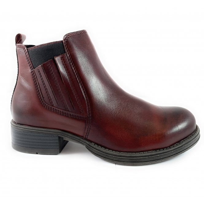Marco Tozzi 25418 Burgundy Leather Chelsea Boot