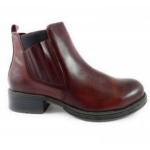 25418 Burgundy Leather Chelsea Boot