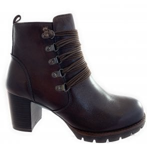 25426-23 Brown Leather Ankle Boot