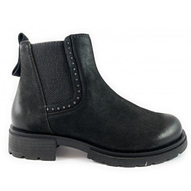 Marco Tozzi 25429-23 Black Nubuck Chelsea Boot