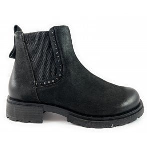 25429-23 Black Nubuck Chelsea Boot