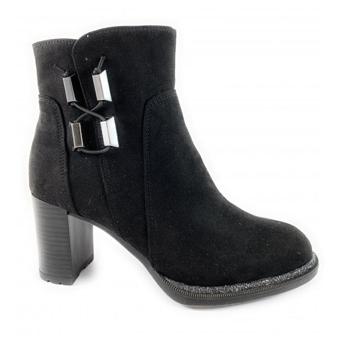 Marco Tozzi 25462-23 Black Faux Suede Ankle Boot