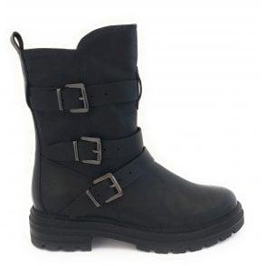 25478-23 Black Biker Boot