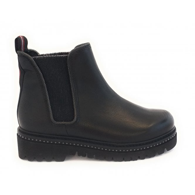 Marco Tozzi 25488-23  Black Leather Chelsea Boot