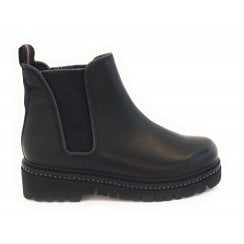 25488-23  Black Leather Chelsea Boot