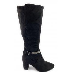 25511-23 Black Knee-High Boot