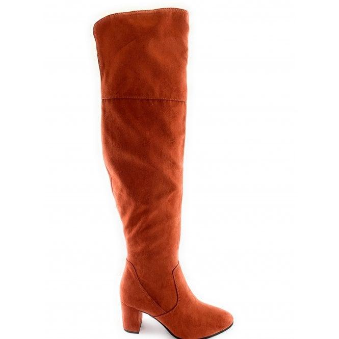 Marco Tozzi 25519-33 Burnt Orange Over the Knee Boot