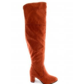 25519-33 Burnt Orange Over the Knee Boot