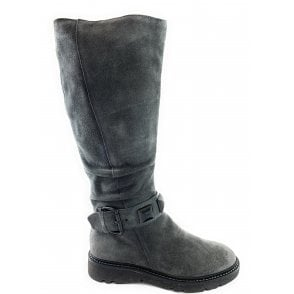 25604-23 Grey Suede Knee-High Boot