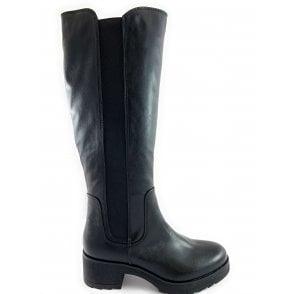 25606-23 Black Knee-High Boot